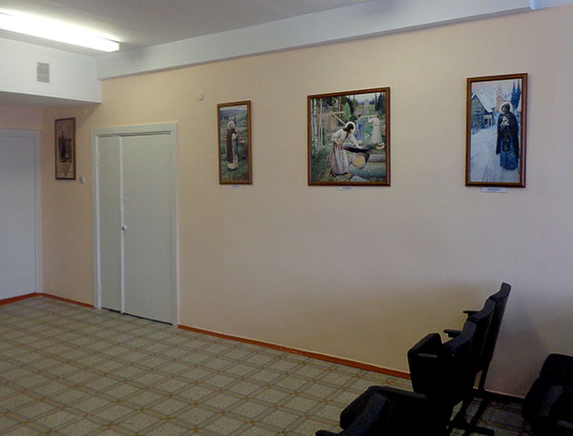 В Перинатальном центре открылась выставка «Образ Преподобного Сергия Радонежского в русском искусстве»