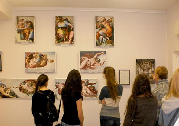 Зал Микеланджело. Фрески Сикстинской капеллы