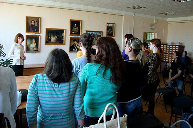 «Шедевры русской живописи» в библиотеке №22