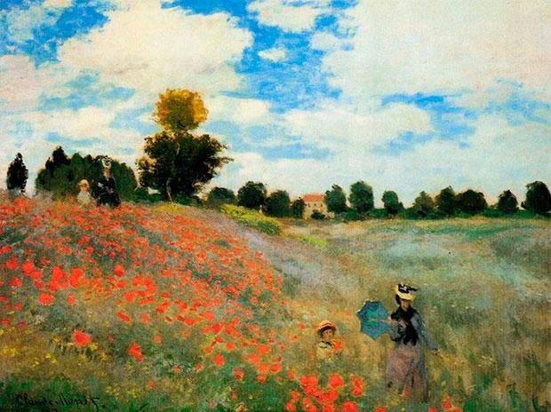 Моне Клод Оскар. Маковое поле. 1873