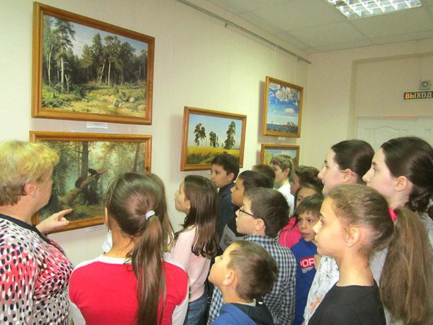 Выставка «Пейзаж. Времена года» в библиотеке №25