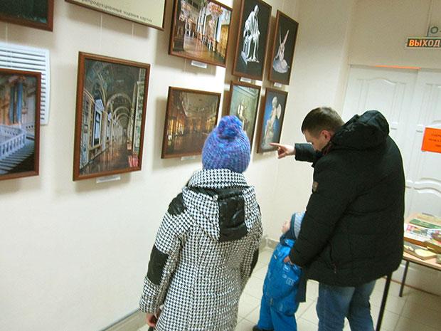 В библиотеке №25  открылась выставка «Из собрания Эрмитажа»